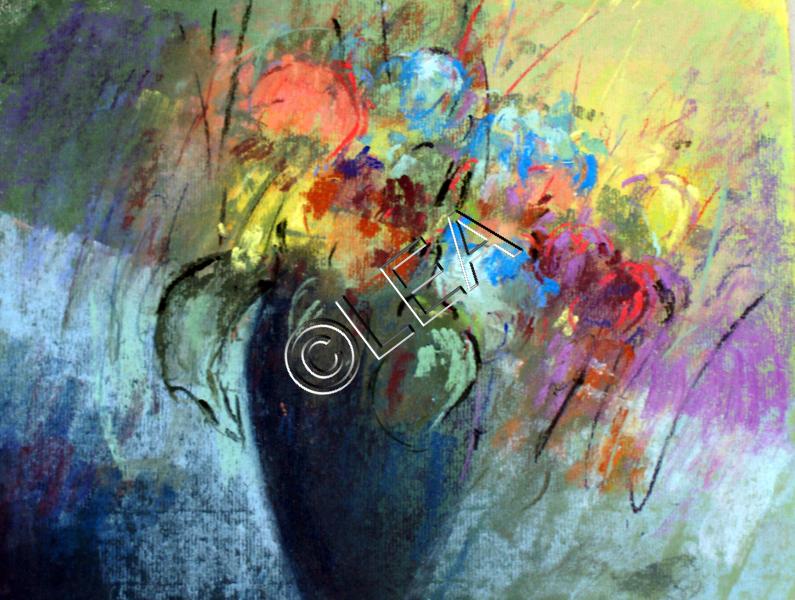 Panaché de Fleurs de Léa Pastelliste, intervenante en Arts Plastiques à Savigny sur Orge