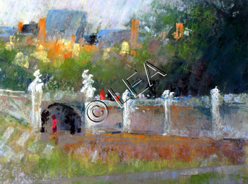 Pastel fait par Léa Pastelliste lors d'une balade à Fontainebleau