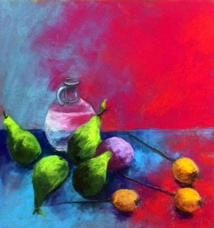 Nature colorée fait par Léa Pastelliste