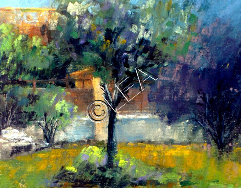 Le jardin de Léa  ( 37 x 45 cm)